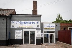 exterior view of lt garage doors showroom