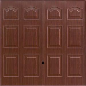 brown decograin garage door