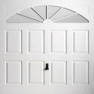 GRP Up and Overs garage door in a white colour.