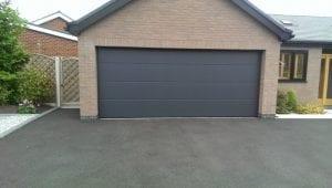 grey sectional double garage door