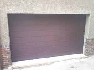 brown sectional garage door