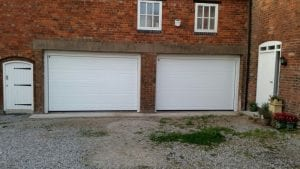 white sectional garage doors