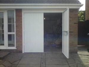 white side hinge garage doors