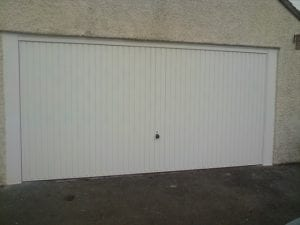 white double up and over garage door